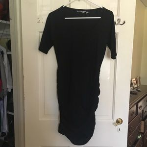 Athleta Black Ruched Dress XS